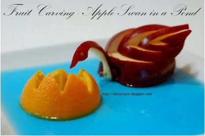 Apple Swan in a Pond - by JZ of Tasty Treats