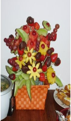 Fruit Bouquet - by MS of Sometime Foodie
