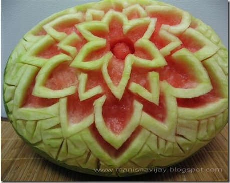 Thai Watermelon Carving - by Manisha Soni of Degchi