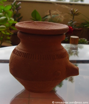A Karwa is used to hold water that is offered to the moon