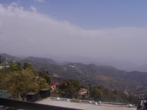 View from Maal Road, Mussorie