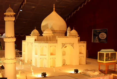 Taj Mahal made out of cake