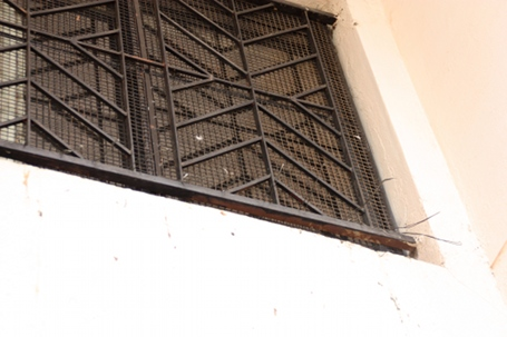 Metal spikes interleaved on their seating area